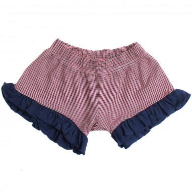 Piccola Ludo Girls viscose striped shorts by Piccola Ludo bf4wb039tes0314c4315picc19