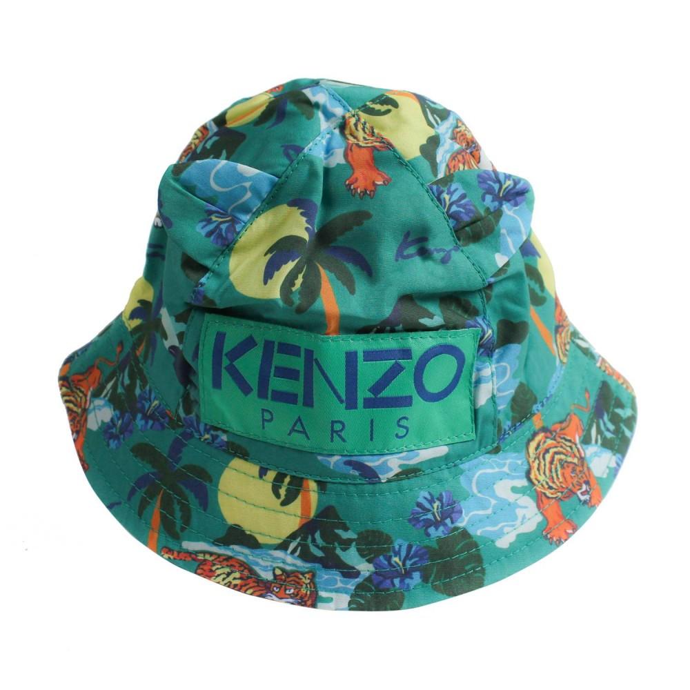 Hawaii print baby bucket hat by Kenzo Kids - Ivana Vesprini 55e56b93c2ba