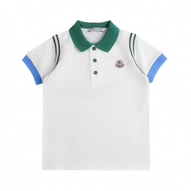 37c30bf1a1f5 Boys cream moncler polo shirt Kids