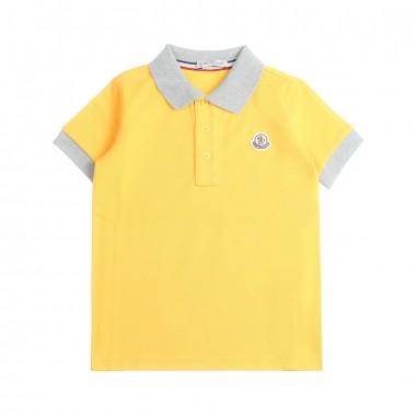 Moncler Polo piquet gialla bambino - Moncler Kids 83078508496w127mo19