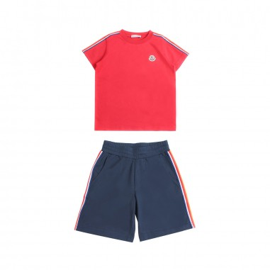 Moncler Boy jersey t-shirt & bermuda shorts set Kids 881300583907455mo19