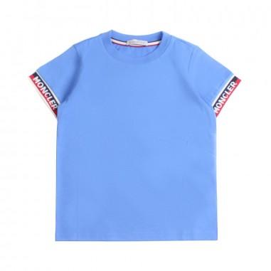 Moncler T-shirt jersey blu bambino - Moncler Kids 802340083907709mo19