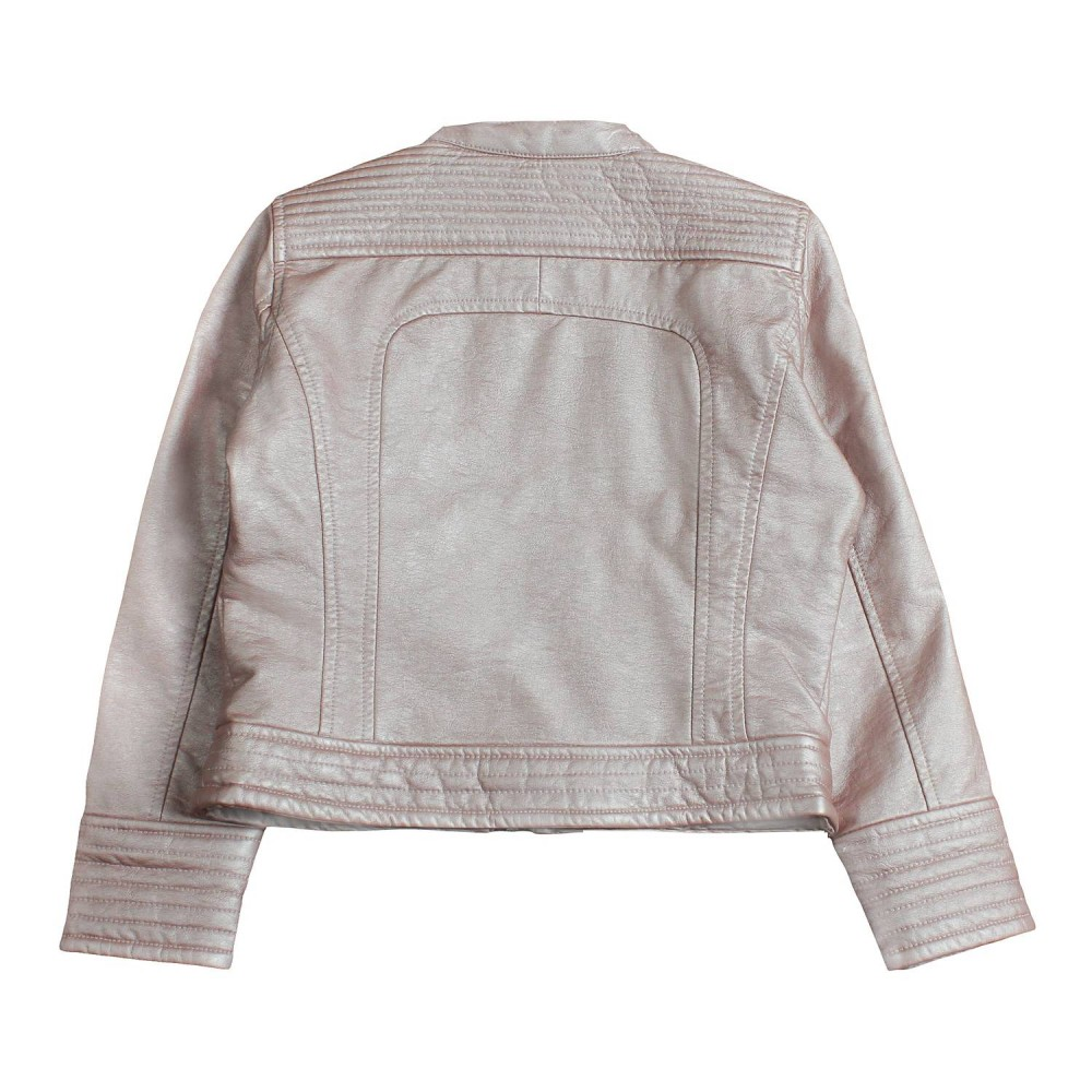 promo code 41915 95618 Giubbino ecopelle rosa perlato bambina by Freedomday Kids