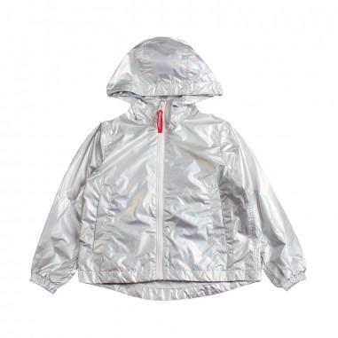 Freedomday Girls silver nylon jacket by Freedomday Kids dixiemetalsilverfree19freedom19