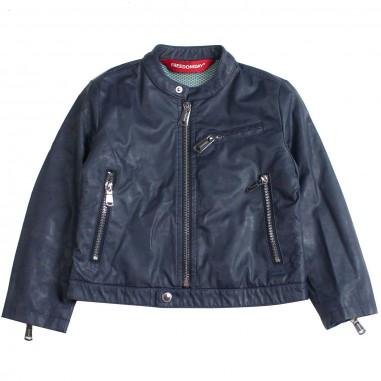 Freedomday Boys blue eco-leather jacket by Freedomday Kids baciliobluefree19freedom19