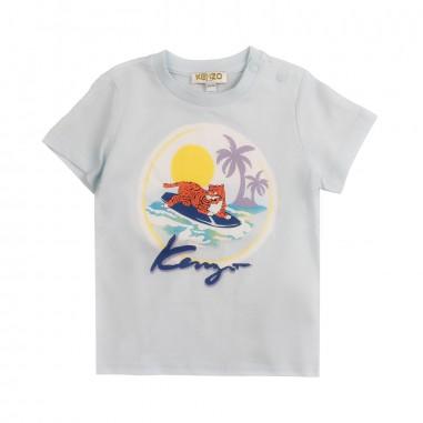 Kenzo T-shirt celeste hawaii per bambini by Kenzo Kids KN1063842kenzo19