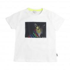 Paul Smith Junior Boys white zebra t-shirt by Paul Smith Junior  5n1073201psmith19 8bc6c374d
