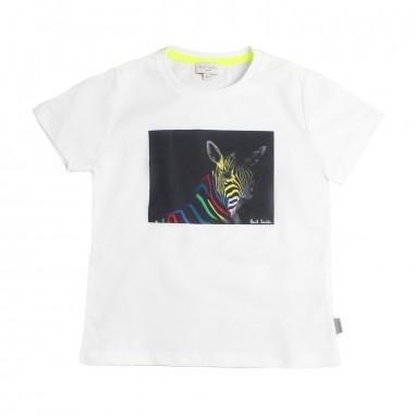 Paul Smith Junior T-shirt bianca con zebra per bambino by Paul Smith Junior 5n1073201psmith19