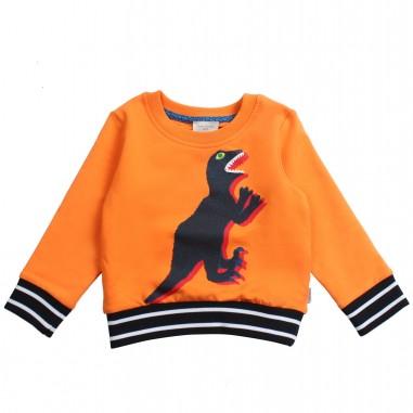 Paul Smith Junior Felpa arancio con animale per bambino by Paul Smith Junior 5n15532740psmith19