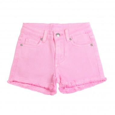 Richmond Shorts denim bambina rosa  by John Richmond Kids rgp19017sh-bubble19rich19