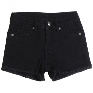 Richmond Shorts denim bambina nero by John Richmond Kids rgp19017sh-black19rich19