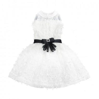 PM Paola Montaguti Kids Abito bianco smanicato bambina cerimonia c410paola19