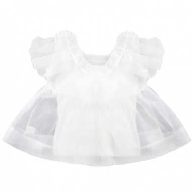 PM Paola Montaguti Kids Girls sleeveless t-shirt & tulle tunic top c502paola19