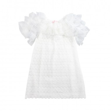 PM Paola Montaguti Kids Girl tulle & lace occasion dress c408paola19