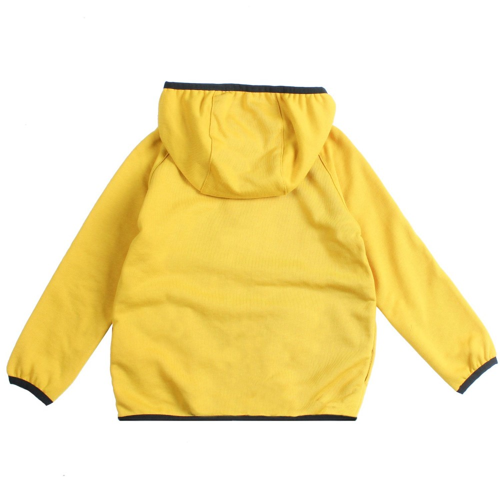 be87d393333 Unisex yellow cotton hooded sweatshirt by K-way Kids
