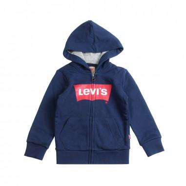 Levi's Basic zip up cotton logo hoodie by Levi's Kids nn1700748levis19