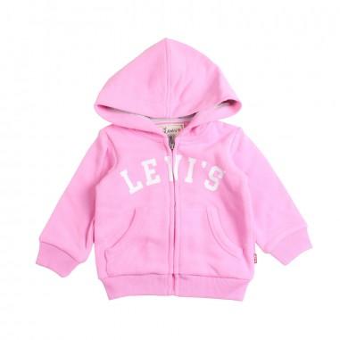 Levi's Felpa aperta rosa per bambina pamela by Levi's Kids nn1751433levis19