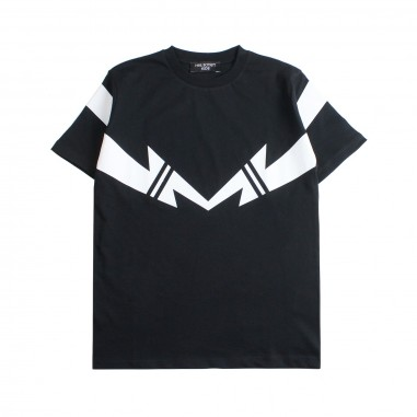 Neil Barrett Kids Boys black jersey t-shirt by Neil Barrett Kids 018629110neil19