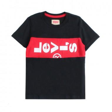 Levi's T-shirt nera box logo per bambini xlazytab by Levi's Kids nn1000702levis19