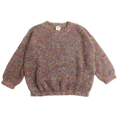 Caffè d'Orzo Girl multicoloured bouclé sweater by Caffè d'orzo letizia19caffe