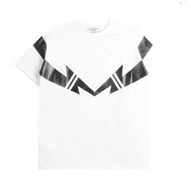 Neil Barrett Kids T-shirt bianca jersey bambino by Neil Barrett Kids 018629001neil19