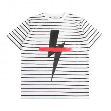 Neil Barrett Kids T-shirt rigata jersey bambino by Neil Barrett Kids 018624001/01neil19