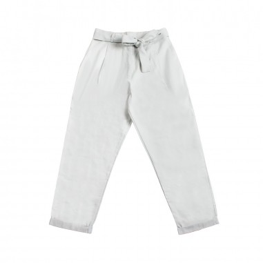 Caffè d'Orzo Girl white cotton trousers by Caffè d'orzo vanda-perla19caffe