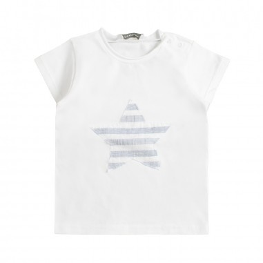 Kid's Company White star baby t-shirt by Kid's Company tskc91441kc19