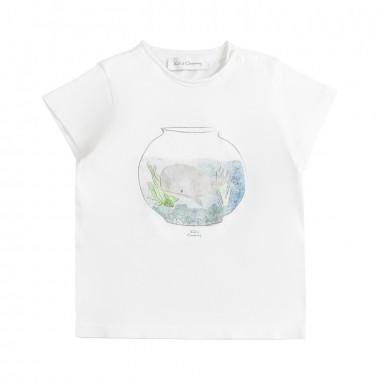 Kid's Company T-shirt stampa bianca neonato by Kid's Company tskc91452kc19