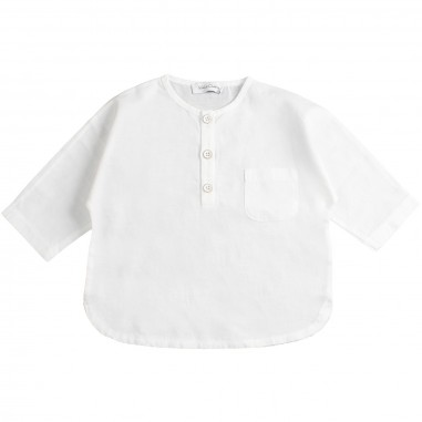 Kid's Company White linen baby shirt by Kid's Company cmkc91468kc19