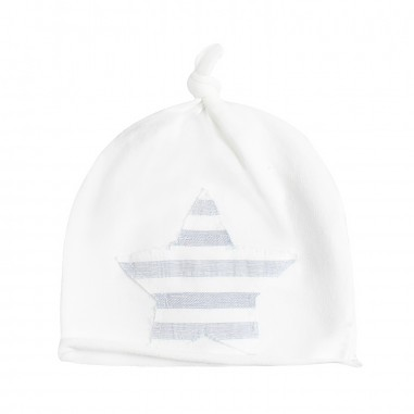 Kid's Company Baby unisex white cotton hat by Kid's Company cakc91454kc19