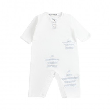 Kid's Company Boys white stretch babysuit by Kid's Company tfkc91433kc19