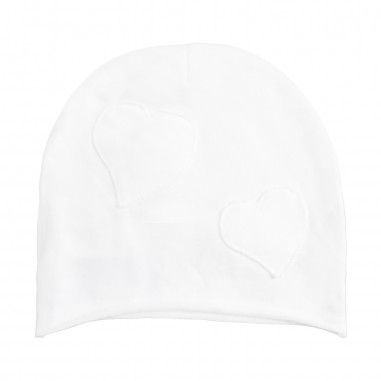 Kid's Company White terry baby girl hat by Kid's Company cakc91262biancokc19