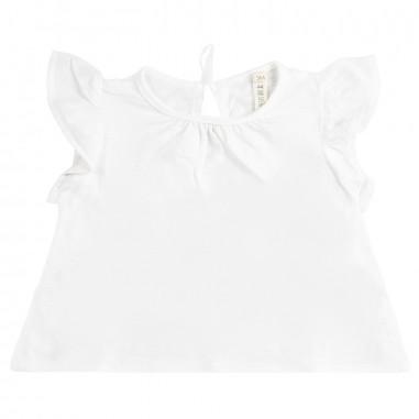 Petit Indi T-shirt jersey neonata bianca 3405petit19
