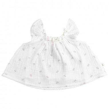 Petit Indi Baby girls white tunic top 1210petit19