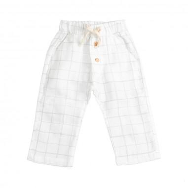 Petit Indi Baby boys linen checked trousers 2809petit19