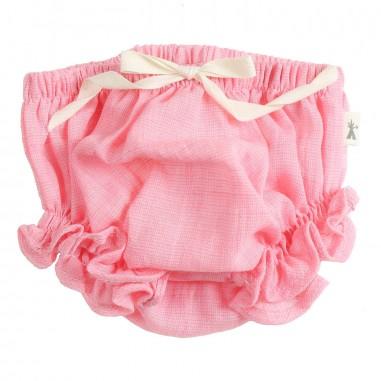 Petit Indi Baby girls pink linen bloomers 1923petit19