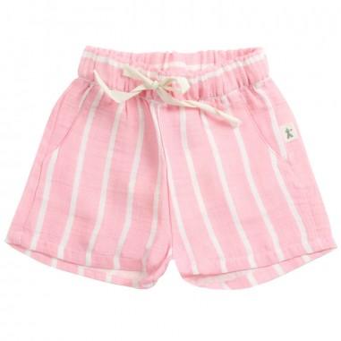 Petit Indi Baby girls pink striped bermuda shorts 3321petit19
