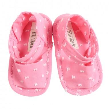 Petit Indi Baby girls pink dotted sandals 4424petit19