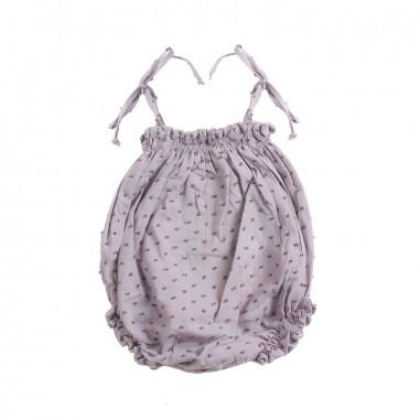 Petit Indi Baby girls grey cotton romper 112petit19