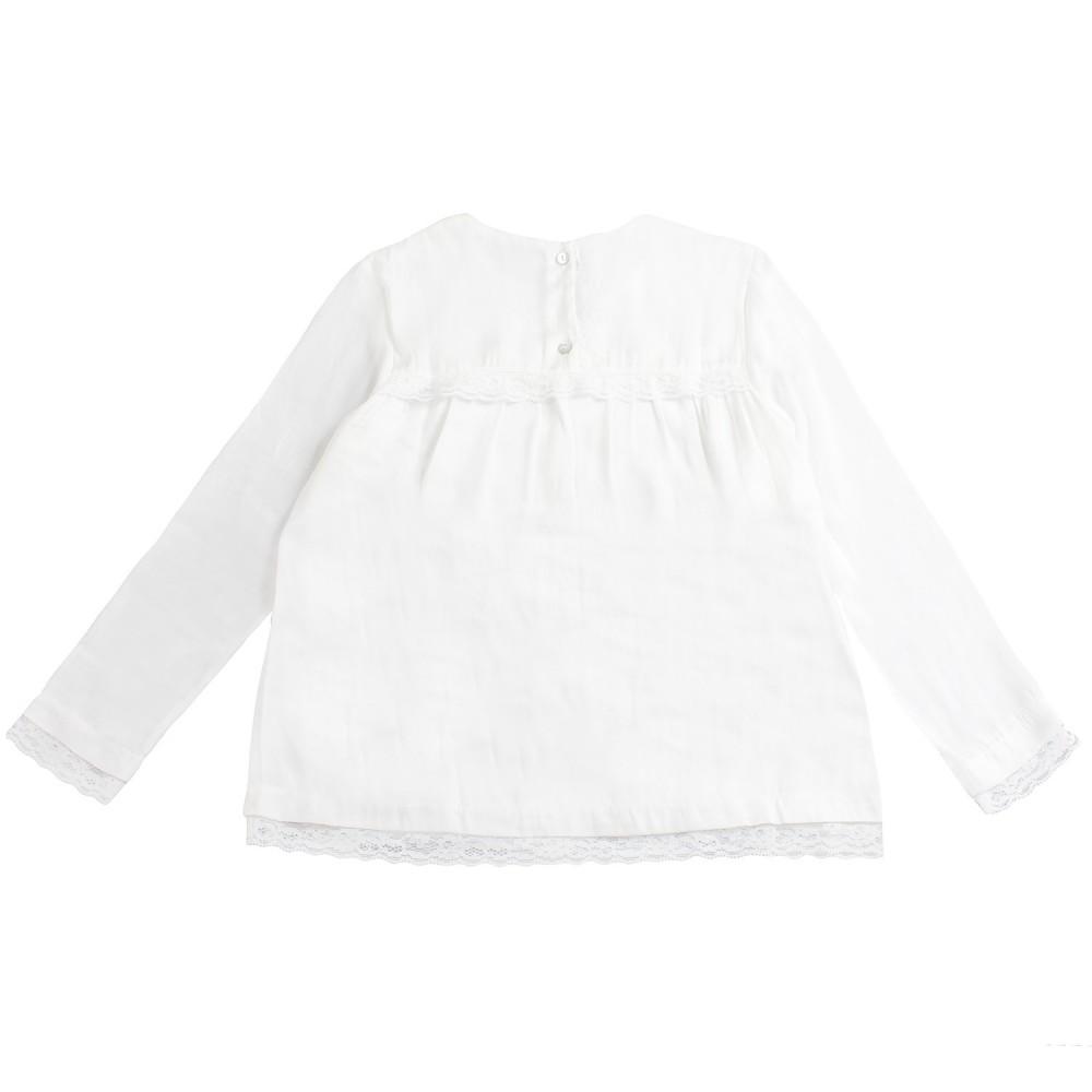size 40 eb95e 132b5 Blusa bianca seta bambina by Caffè d'orzo
