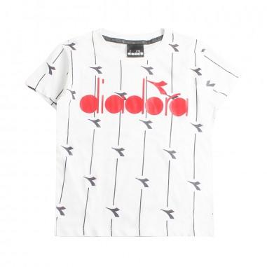 Diadora T-shirt bianca jersey bambino by Diadora Kids 1924600119diadora19