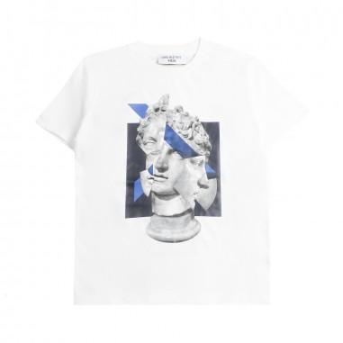 Neil Barrett Kids Boys white printed t-shirt by Neil Barrett Kids 018620001neil19