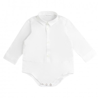 Kid's Company Camicia body bianca neonato by Kid's Company cmkc91409kc19