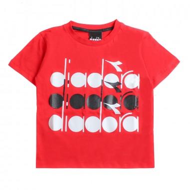 Diadora T-shirt jersey rossa bambino by Diadora Kids 1925304019diadora19