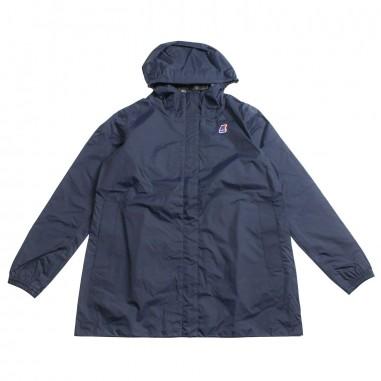 66112799fa1 Girls blue long windrbreaker jacket by K-way Kids