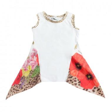 Monnalisa Girls viscose floral t-shirt by Monnalisa 11363419-19-9980monna19