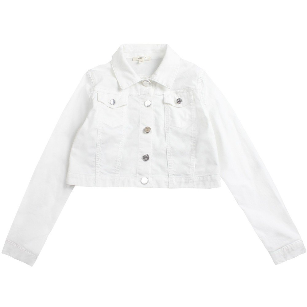 1afb64ea7 Girls white denim stretch jacket by Kocca Girl - Ivana Vesprini