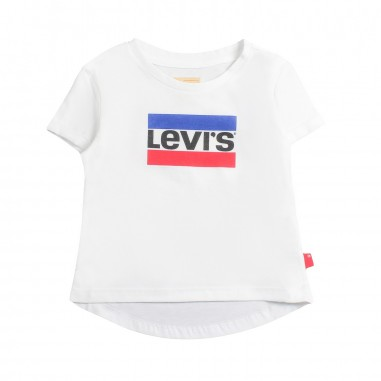 Levi's Girls white levi's logo marble t-shirt by Levi's Kids nn1062711levis19