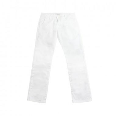 Paolo Pecora Boy white gabardine trousers pp1832-biancopaolo19